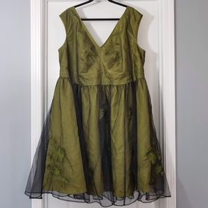 Olive green Cocktail Dress